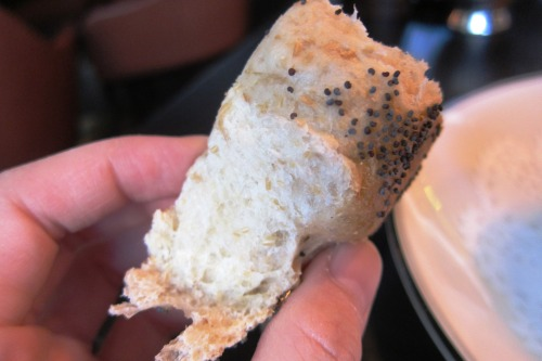 Inside of the bagel