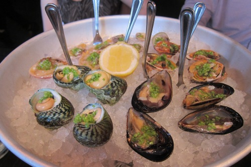 Clams, Mussels, Vongole, Periwinkles