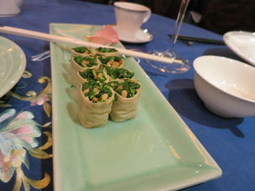 Vegetables wrapped with Tofu Skin