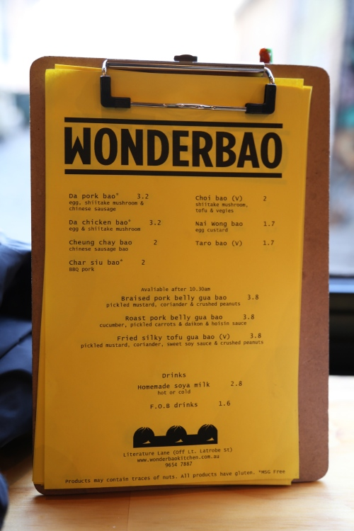 Wonderbao Menu