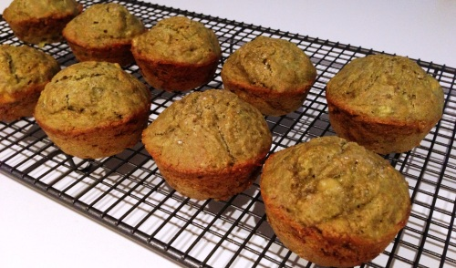Vegan Green Tea Banana Muffins