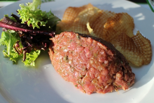 Up close Steak Tartare
