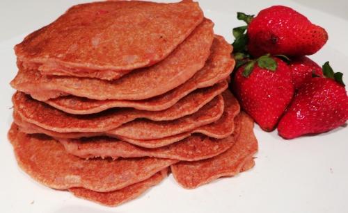 Vegan Strawberry Pancakes 2