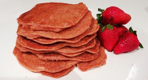 Vegan Strawberry Pancakes