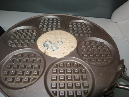 Cooking the Pancake Waffle