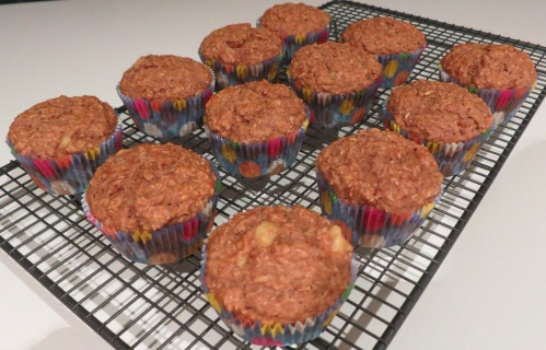 Vegan Wheat Bran Banana Muffins