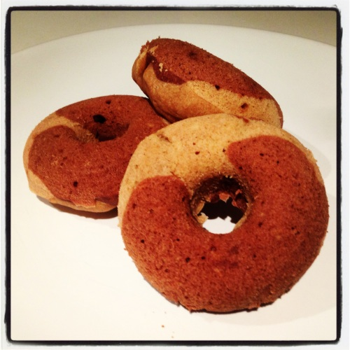 Chocolate and Vanilla Spelt Donuts