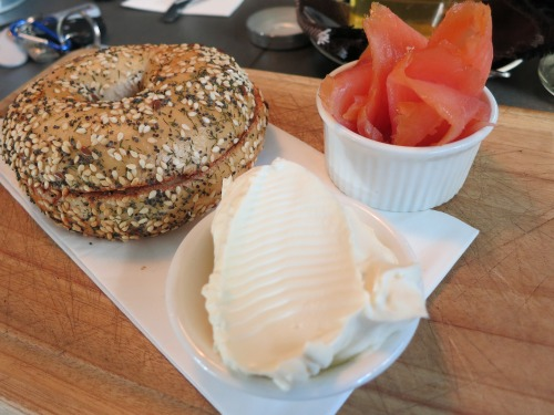 Bagel with Cream Cheese & Smoked Salmon