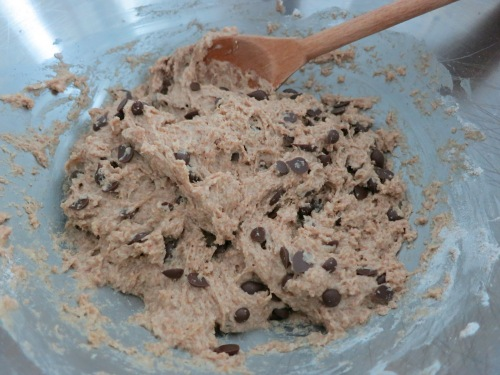 Adding in the chocolate chips